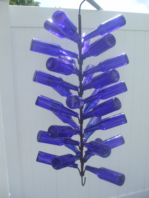 Our Hanging Bottle Trees holds 30 (not just 28) bottles of any size ...